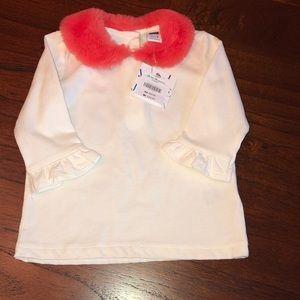 NWT Fur collar Top